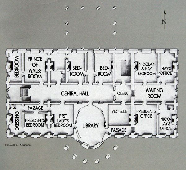 Second Floor Floor Plans White House Usa White House