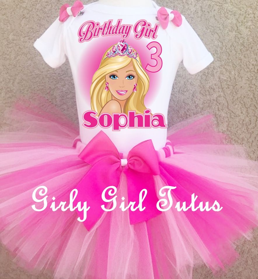 Pin on Barbie Birthday Shirts/Tutus