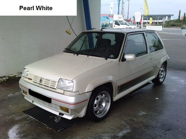 Renault 5 Gt Turbo Phase 1 Pearl White Renault 5 Gt Turbo Renault 5 Renault