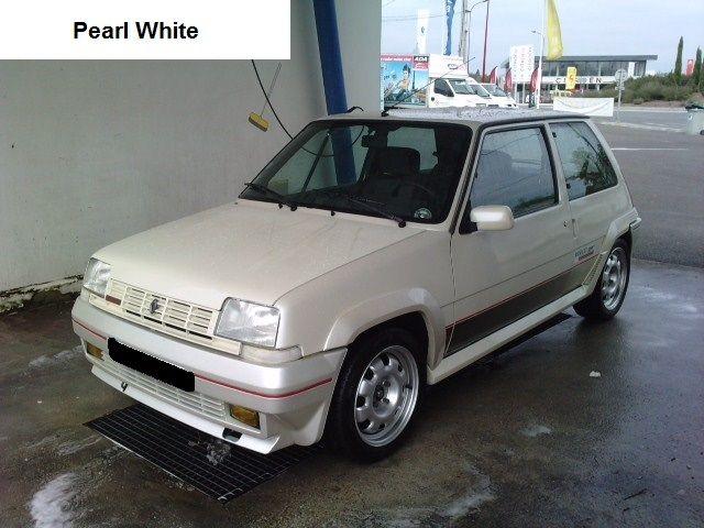 Renault 5 Gt Turbo Phase 1 Pearl White Renault 5 Gt Turbo Renault 5 Renault