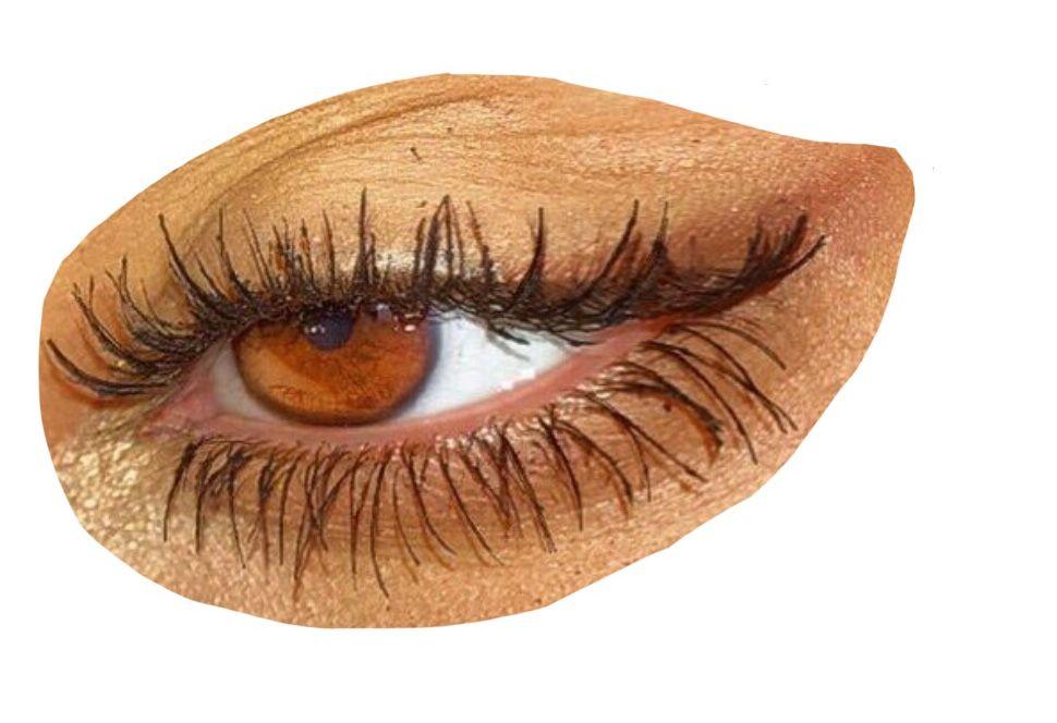 Gold Eye Polyvore Moodboard Filler Aesthetic Eyes Yellow Eye Makeup Brown Aesthetic