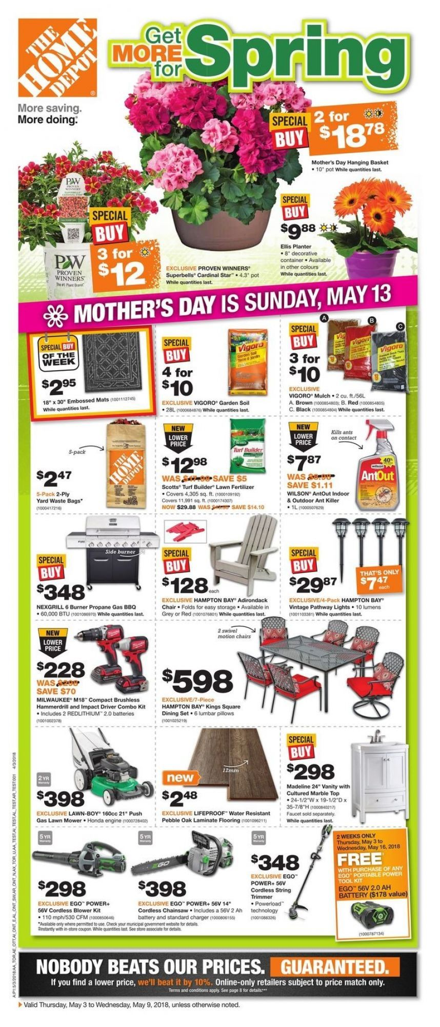 Flyer Home Depot On Canada From Thursday May 3 2018 To Wednesday May 9 2018 Flyer Home Depot Online Flyers