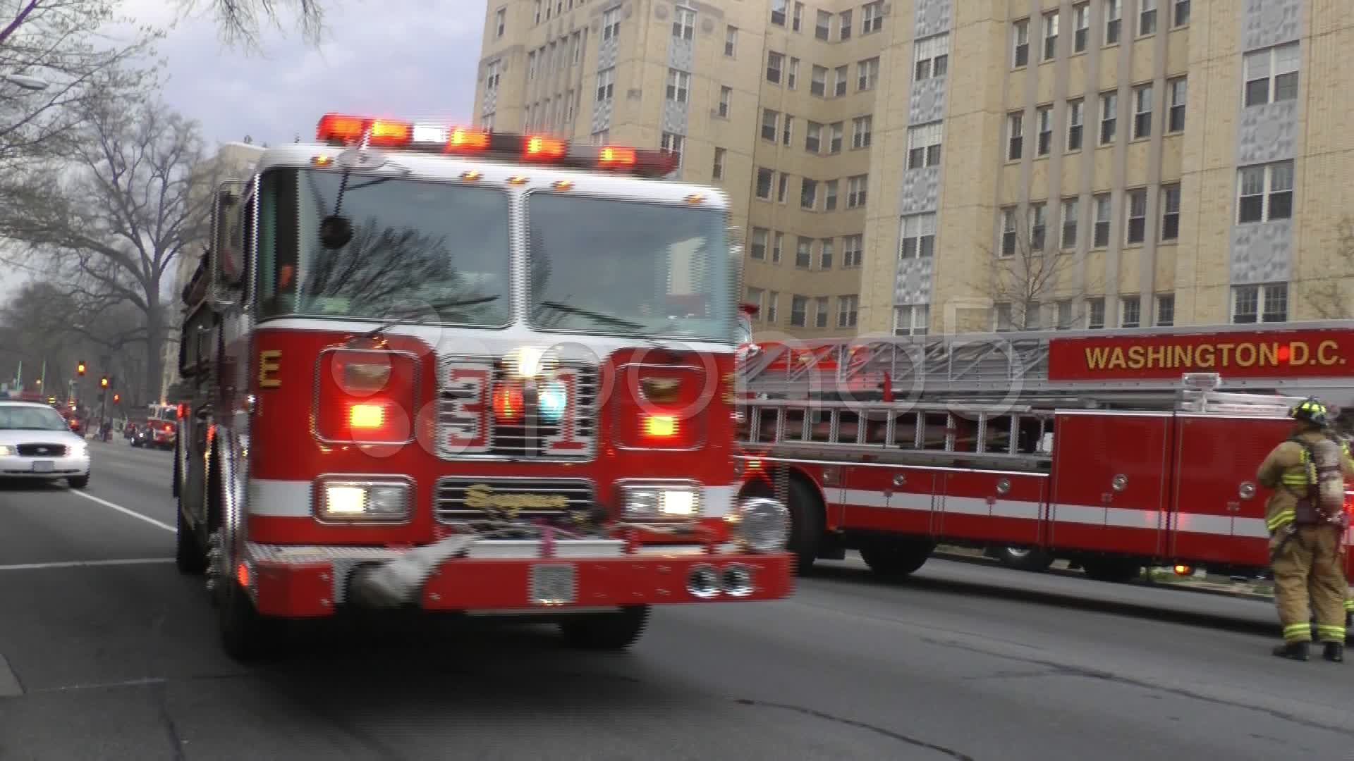 Fire Engine Arrives Dc Stock Footage Ad Arrives Engine Fire Footage Fire Engine Engineering Fire
