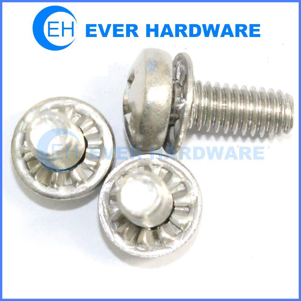 Machine Screw Internal Tooth Lock Washer Pan Phillips