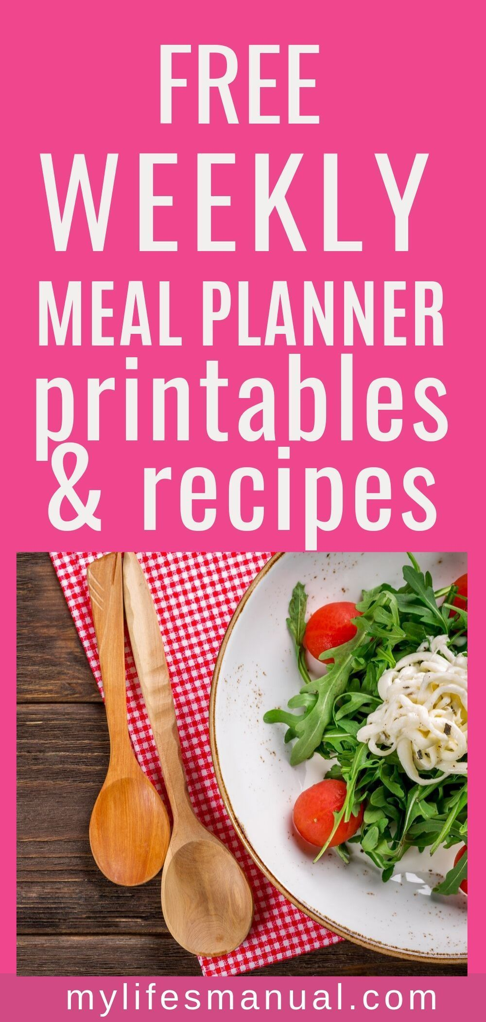 Free weekly meal planner with a grocery list instant pot