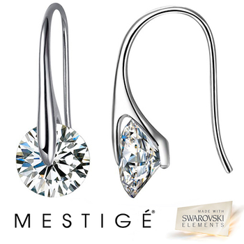4051b1d9c $14.99 - Mestige Crystal Eclipse Earrings made with Swarovski Elements