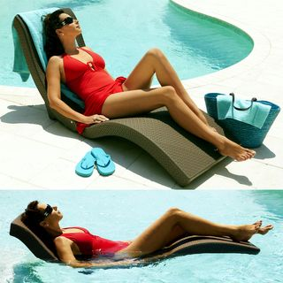The Splashlounger Chaise Pool Floater Chair Summer Fun