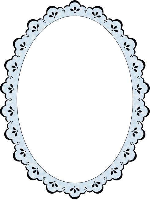Oval Lace Frame Small 8018 Printable Frames Frame Clipart Frame