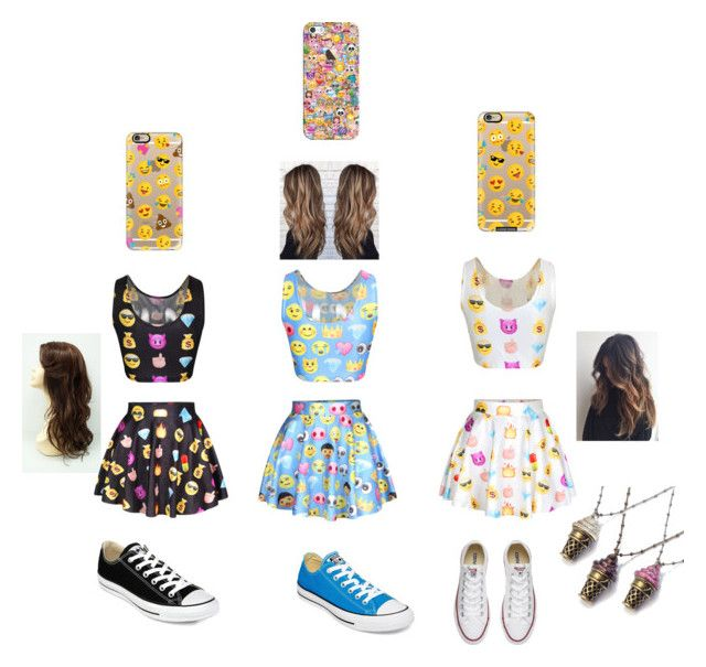 """""""Squad😜🤗💯"""" by slaybeauty101 on Polyvore featuring Converse, Sweet Romance and Casetify"""