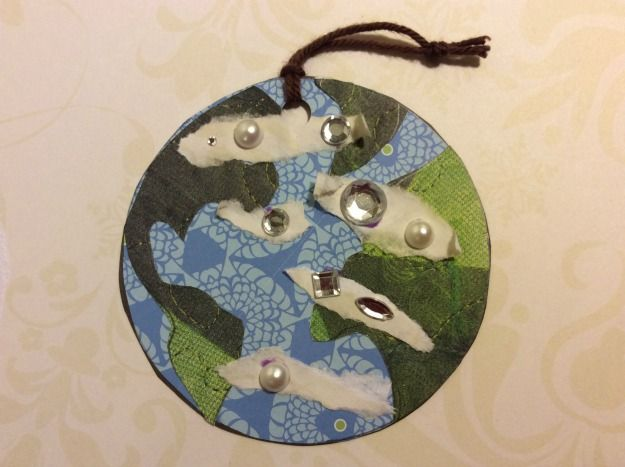 The first Jesse Tree ornament is the earth symbolizing creation.