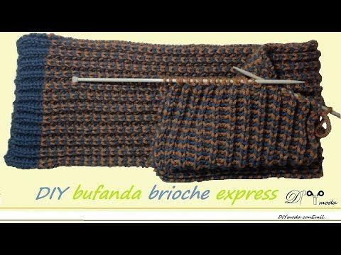 Cómo tejer bufanda brioche express con dos agujas - YouTube ...