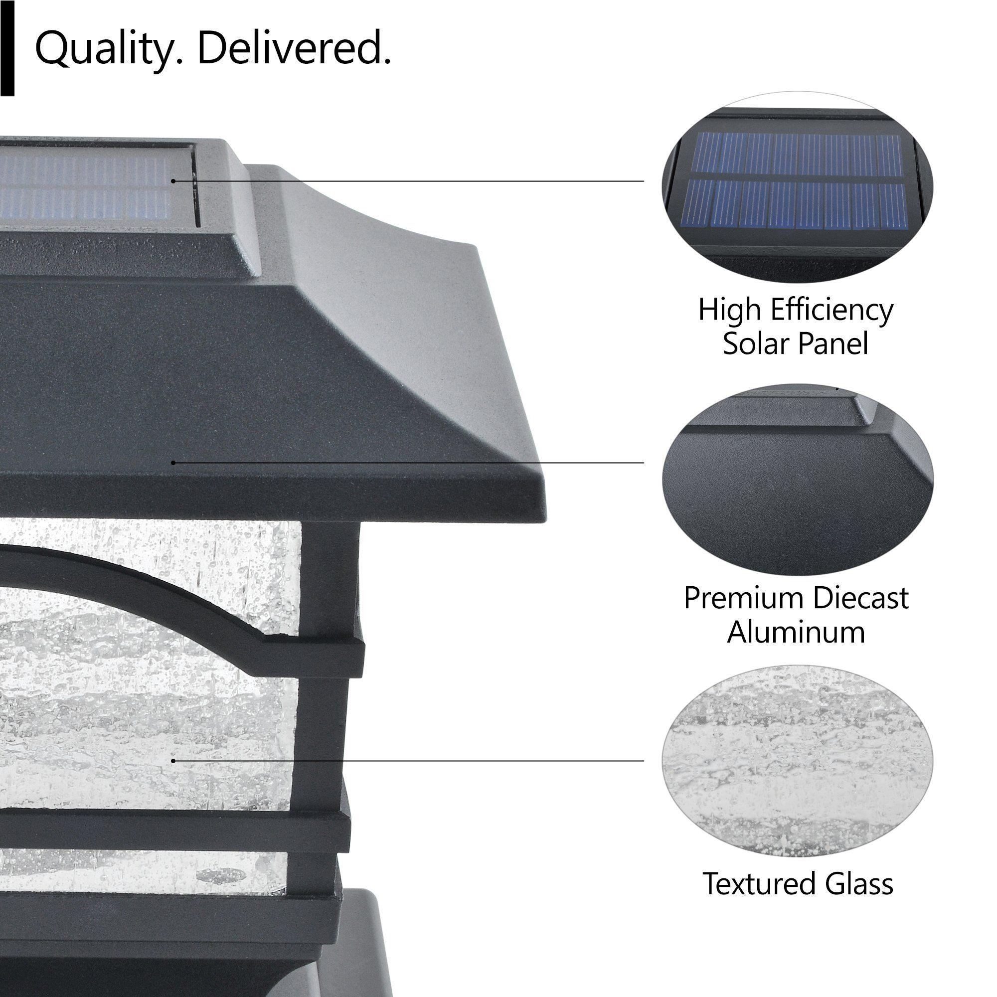 Photo of Davinci Lighting – Premium Solar Post Cap Lights – For 4×4 5×5 6×6 Deck Patio or Fence Posts