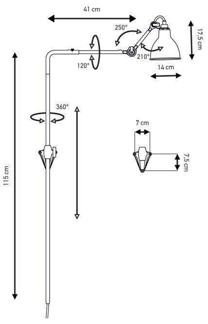 DCW Lampe Gras N°216 Wall Lamp | nunido.