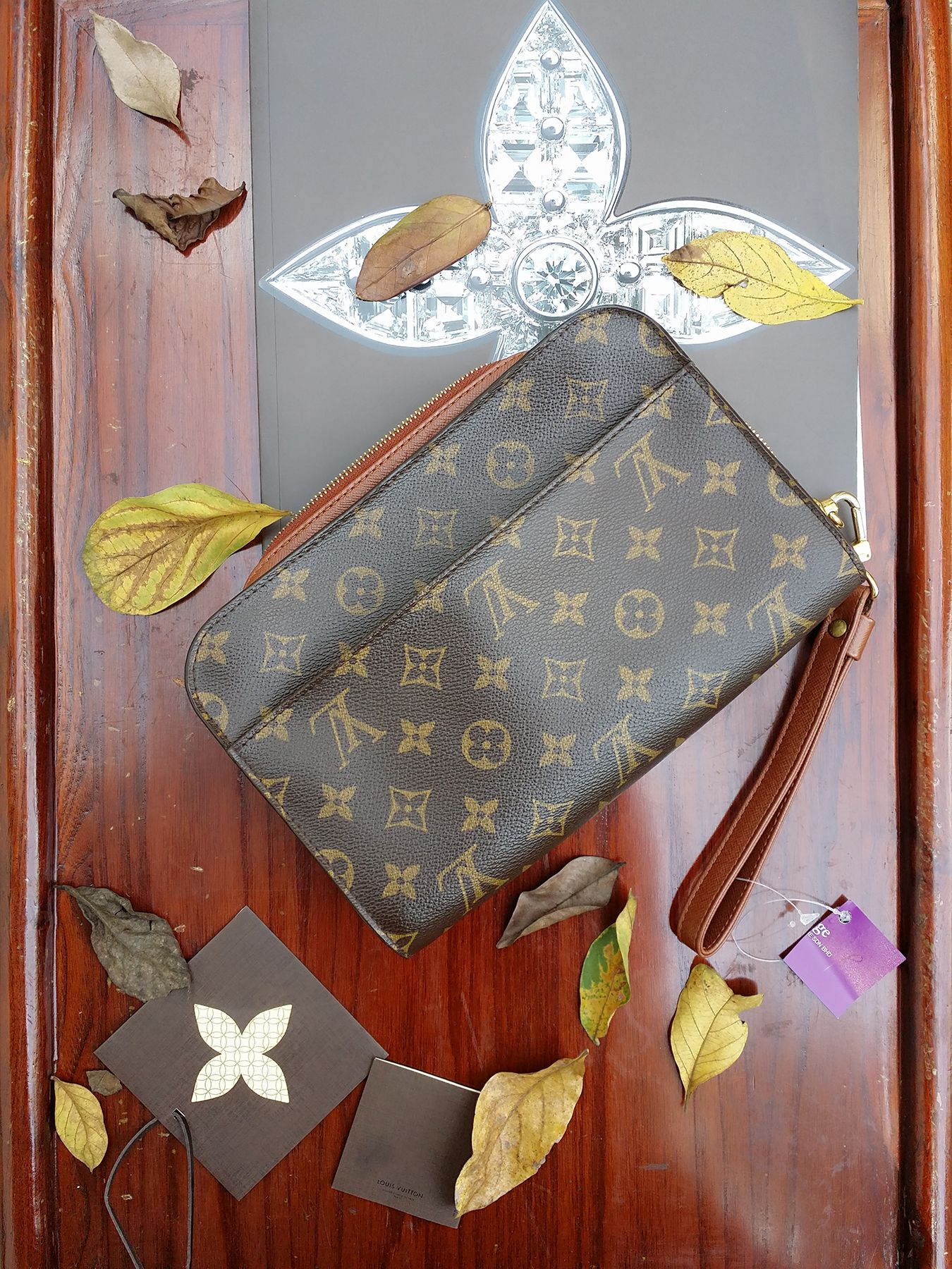 Louis vuitton orsay clutch rm2890 monogram canvas with