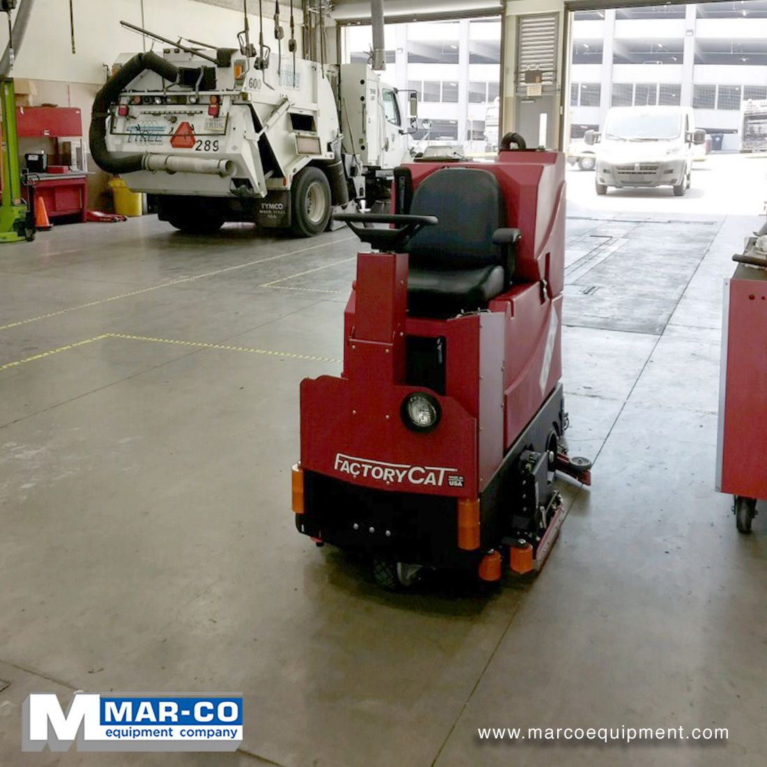 From Big To Small We Carry It All A Factorycat Gtx Sits At It S New Home And Awaits It S Orders Marcoequipment O Floor Scrubbers Scrubbers Floor Sweepers