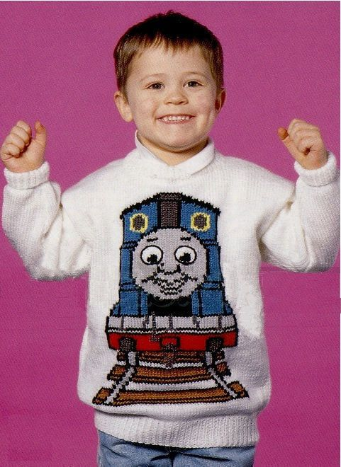 92 Thomas The Tank Engine Sweater Knitting Pattern Child Adult 22