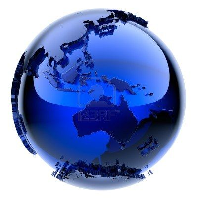 Blue Glass Globe With Frosted Continents A Little Stand Out From Blue Glass Blue Glassware Glass Globe