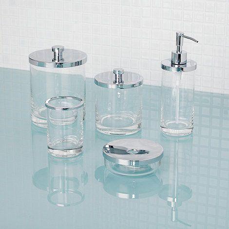 Glass Bathroom Accessories Sets. J by Jasper Conran Glass bathroom accessories  at Debenhams com