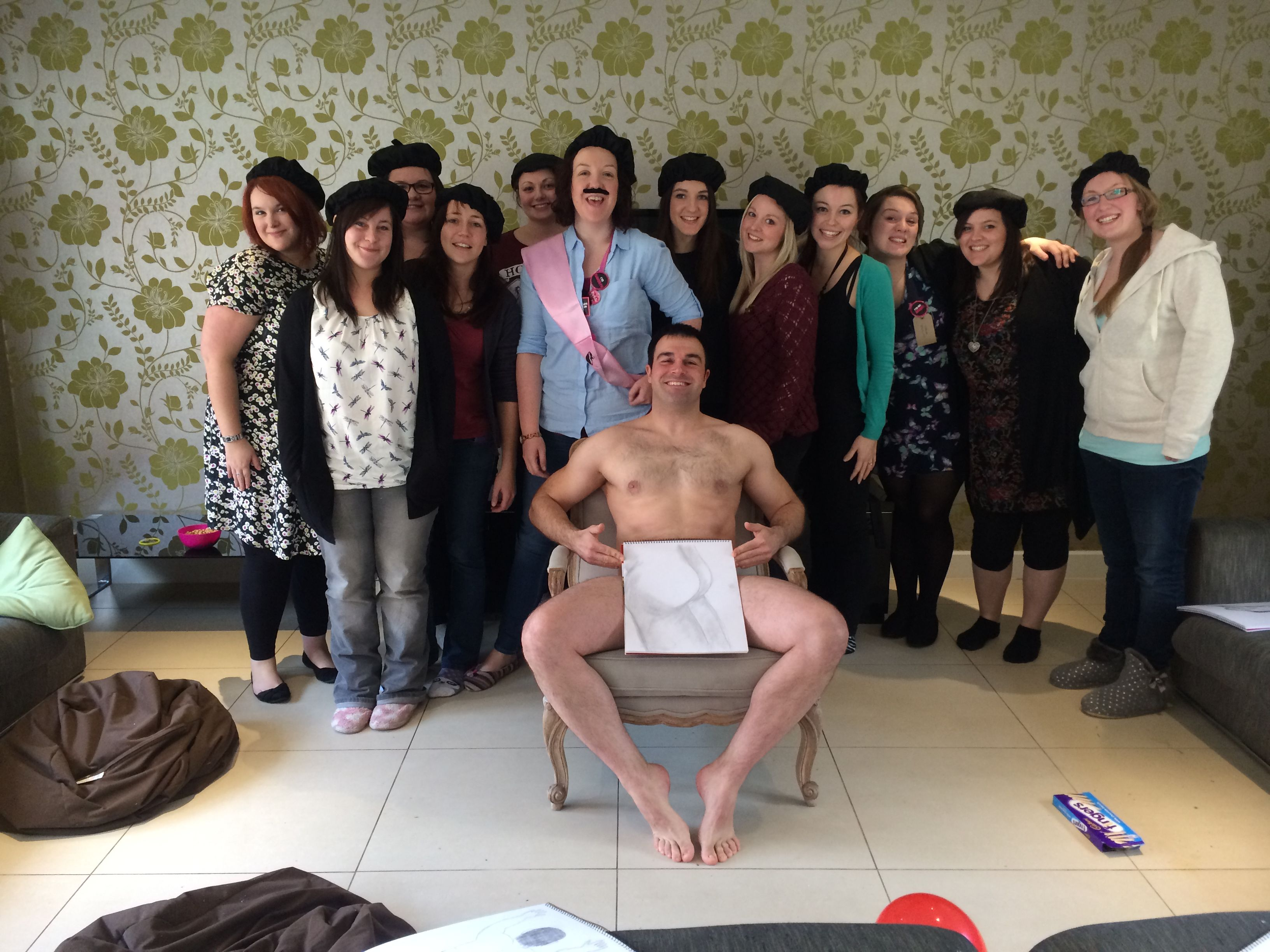 Stripped naked on my hen weekend