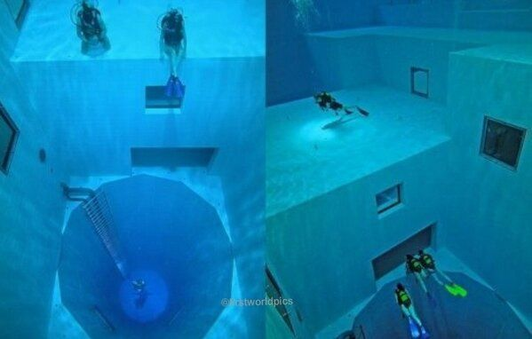 Welcome to Nemo 33 Brussels in Belgium The DEEPEST DIVING POOL IN