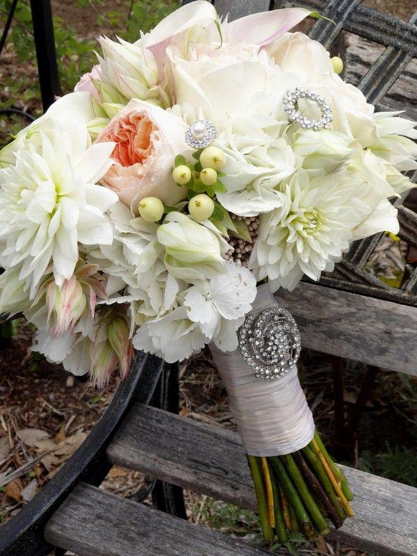 The Elegant Bee San Antonio Area Florist Rustic Chic Wedding Bouquet With Peonies