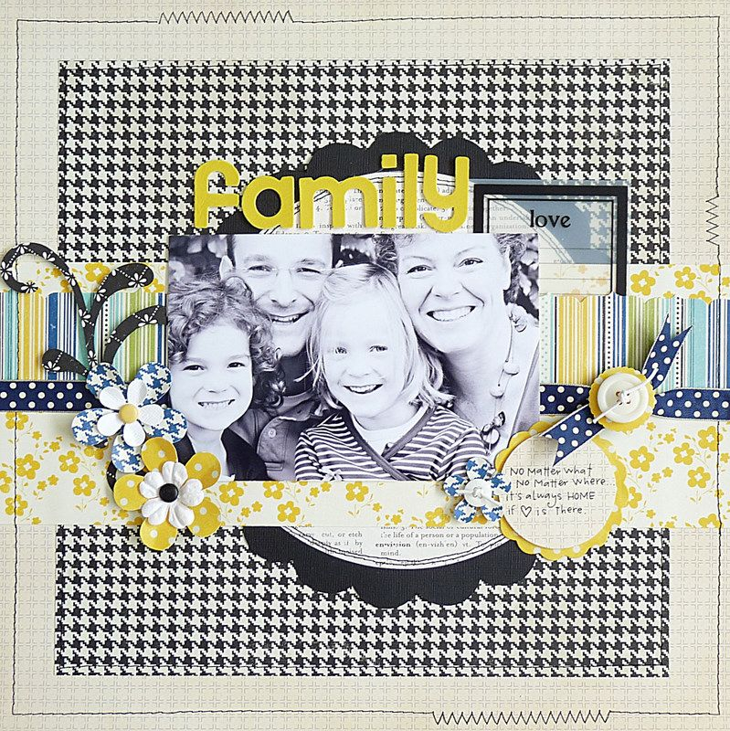 from sketch 64 Family scrapbook layouts