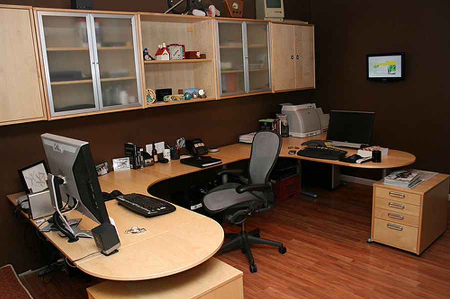 Ordinaire Basement Home Office Design Idea Home Interior Decoration: Basement Home  Office Design Idea Home Interior