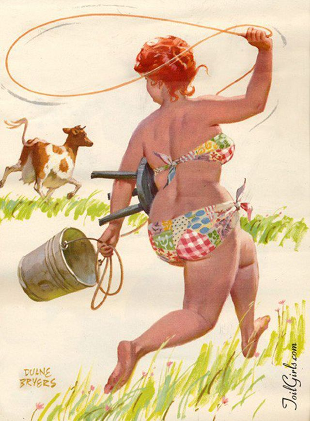 Рисунки женщин веселые, аппликацией