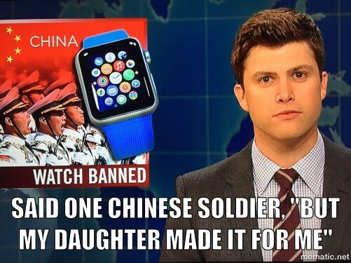China has banned their soldiers from wearing the new Apple watch over concerns of cyber security...