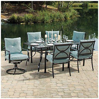 Wilson Fisher Somerset 7 Piece Dining Set 7 Piece Dining Set Outdoor Furniture Sets Patio Dining Set