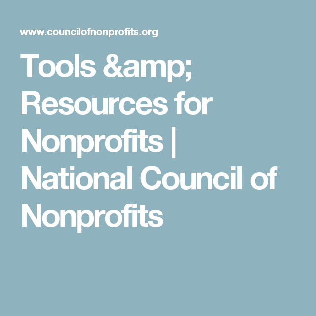 Tools & Resources For Nonprofits