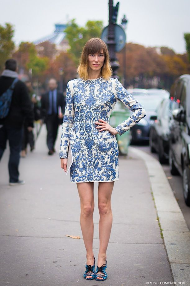 Brocade Dress 2017 With Statement Shoes