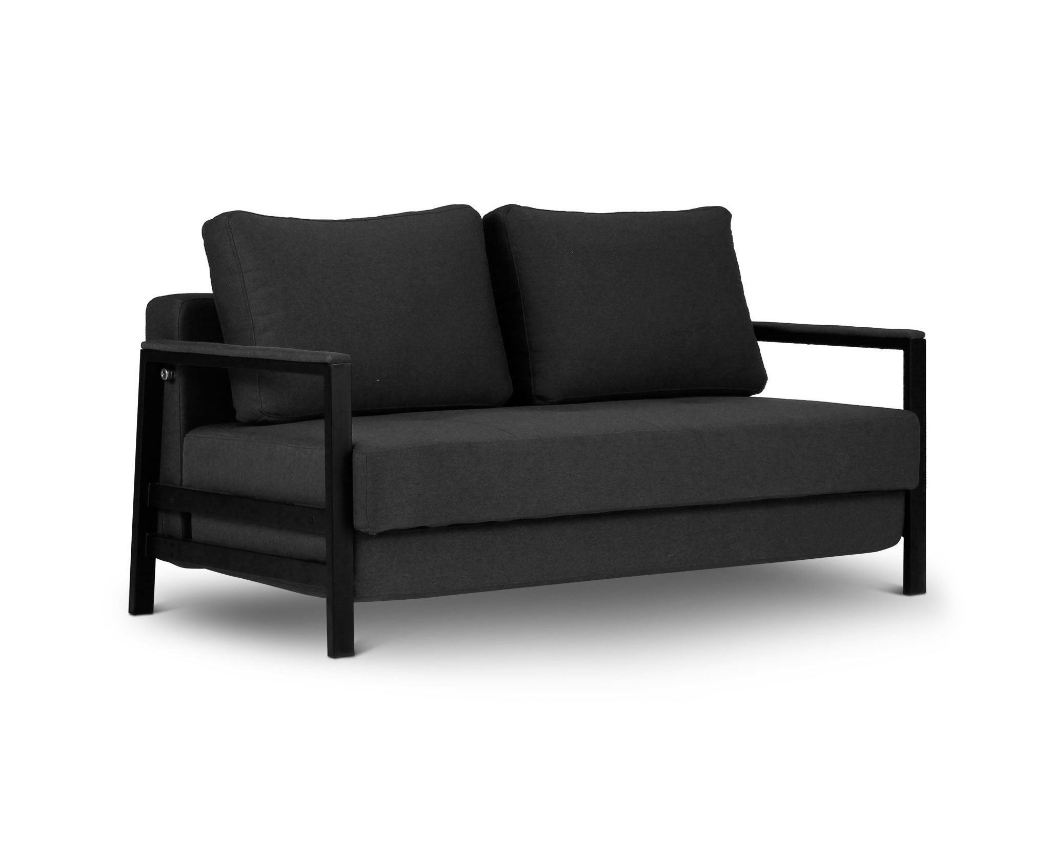 Kobe Fabric 2 Seat Sofa Bed Black sofa, Sofa, Sofa bed