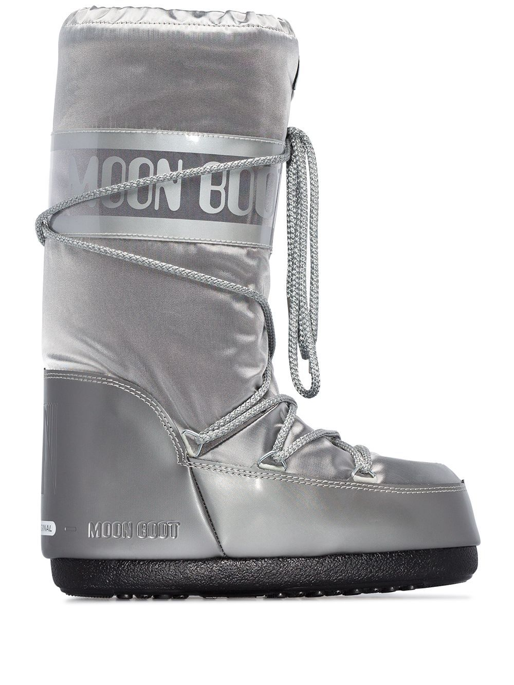 Moon Boot Glance Metallic Snow Boots In Silver Modesens Moon Boots Boots Snow Boots