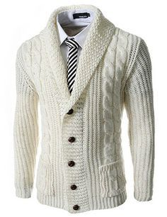 Saco blanco | Cardigans For Men | Pinterest