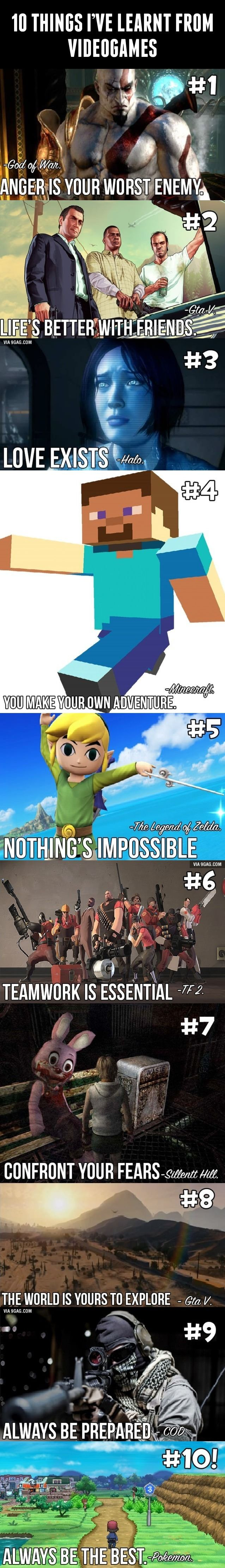 10 Things I Ve Learnt From Videogames Video Game Quotes Funny Games Video Game Memes