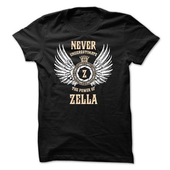 Never Underestimate The Power of ZELLA - #baggy hoodie #sweatshirt quotes. WANT THIS => https://www.sunfrog.com/Names/Never-Underestimate-The-Power-of-ZELLA-50918640-Guys.html?68278
