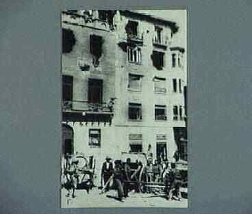 """""""plaza de Belchite donde se hicieron fuertes los facciosos"""". Published (1937, September"""