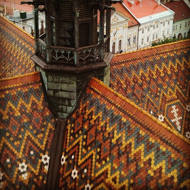 Multicolor Roof Tile Mosaic Cathedral St Elisabeth Slovakia Kosice Cool Roof Architecture Details