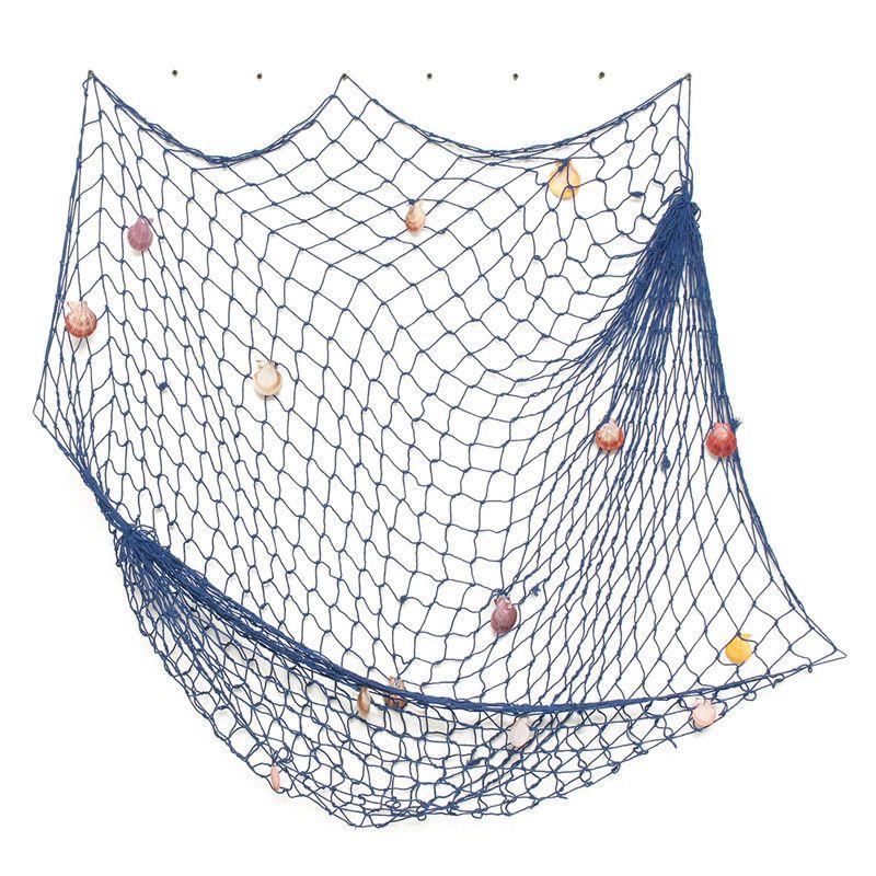 Nautical Fishing Net Seaside Wall Beach Party Seashell Photo Prop Sea Decor Anchor Decor Fishing Net