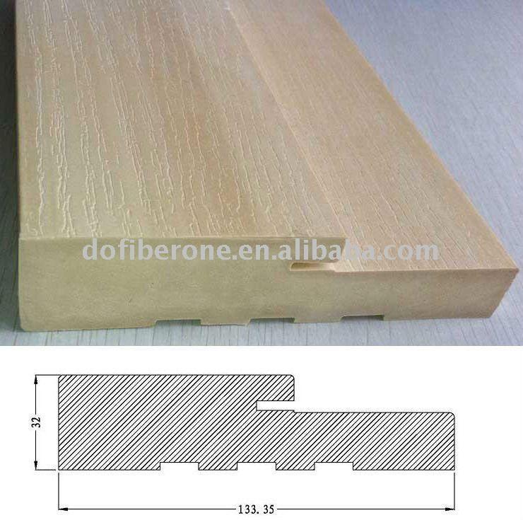 Water Proof Woodgrain Texture Pvc Wpc Door Frame - Buy Wpc Door ...