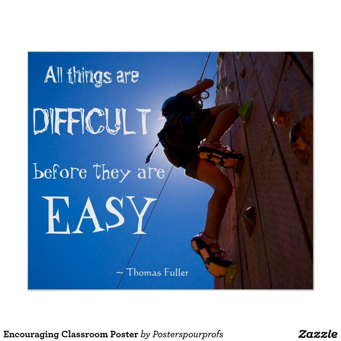 Encouraging Classroom Poster