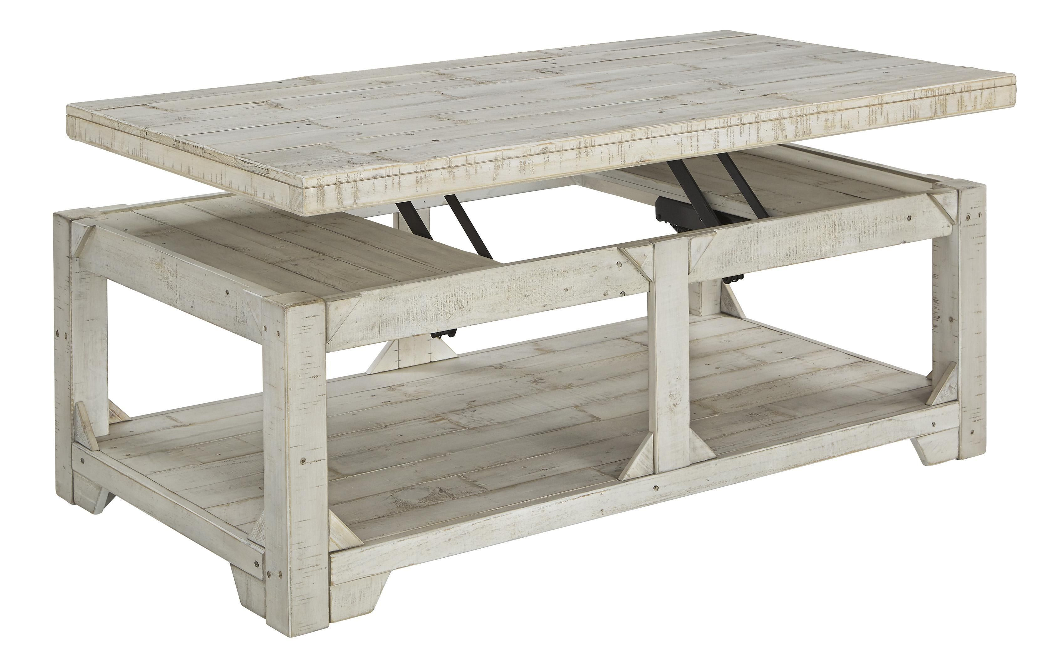 Farmhouse Wooden Lift Top Cocktail Table With Open Bottom Shelf In White Bm210780 Coffee Table Whitewash Coffee Table Lift Top Coffee Table [ 2130 x 3397 Pixel ]