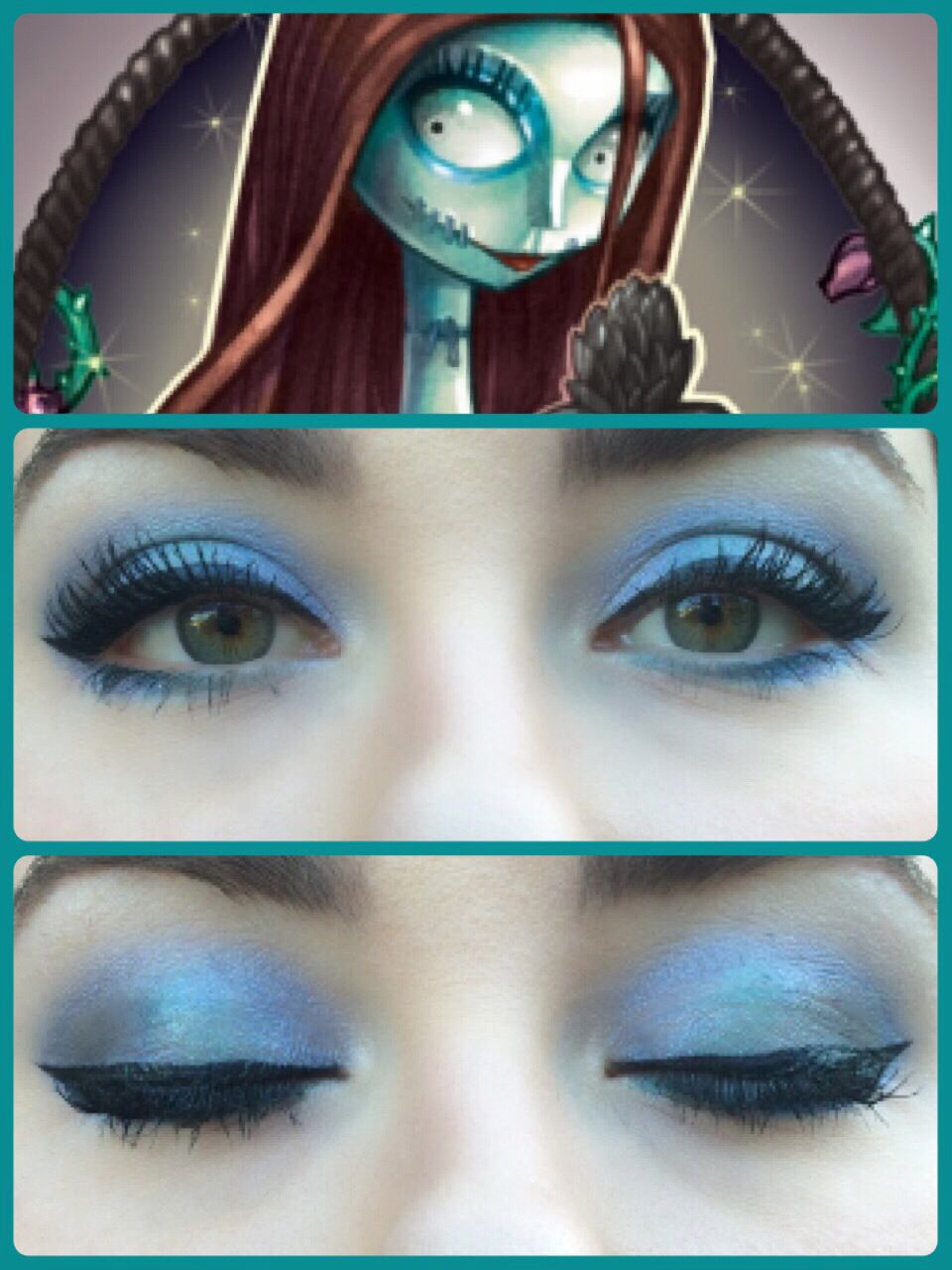 Sally inspired eye makeup look from Nightmare Before Christmas using ...