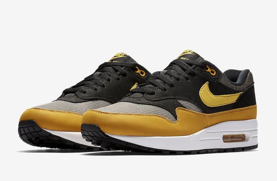 Nike Air Max 1 Black Yellow AH8145 001 Sneaker Bar Detroit