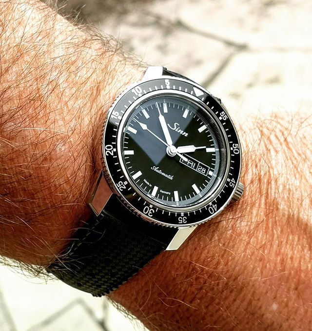 Repost Sinn 104 On A Tropic Rubber Strap Sinn Sinn104