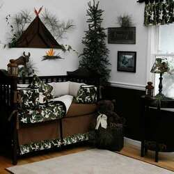 Green Camo And Wilderness Baby Room The Tree Mainly From This Pic