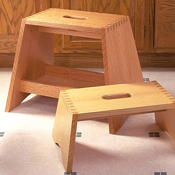 Step Stool With Box Joints Free Woodworking Plan Step