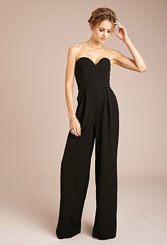 4a6332ce4a1 Strapless Pleated Jumpsuit