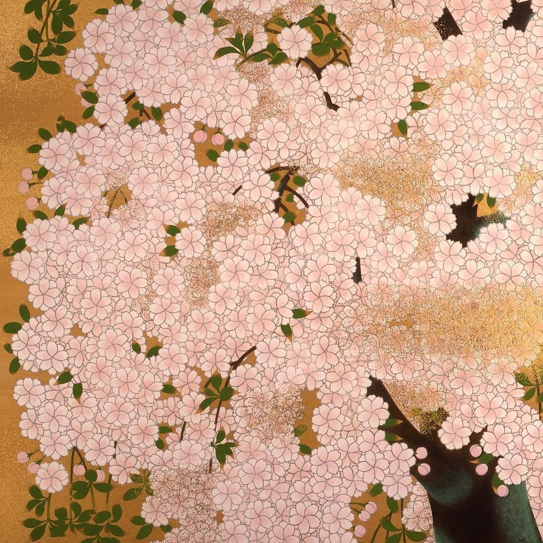 Japan Objects Japanobjects On Instagram This Exceptional Nihonga Painting By Meiji Hashimoto Entitled Sakur Sakura Art Japanese Painting Japanese Artwork